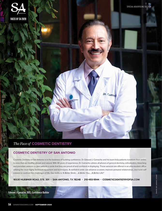 Face of Cosmetic Dentistry for the San Antonio Magazine